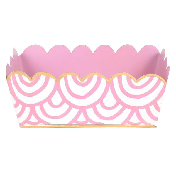 Tole Pink Scales Desk Tray - Hattan Home - 3