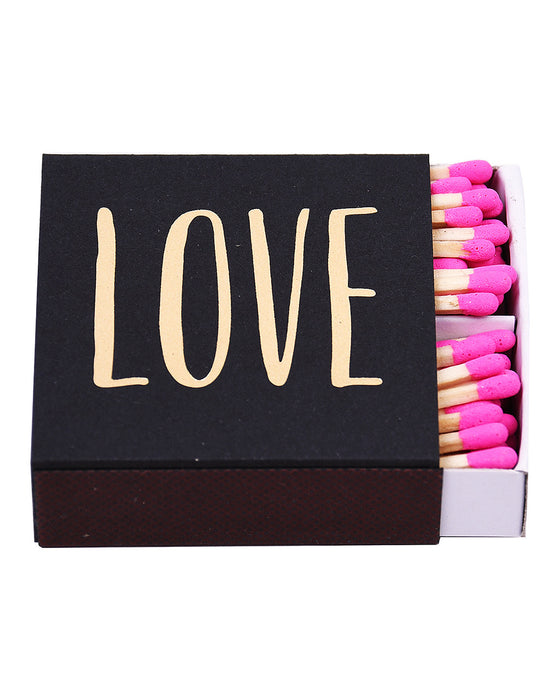 Love Gold Foil Matchbox - Hattan Home - 1