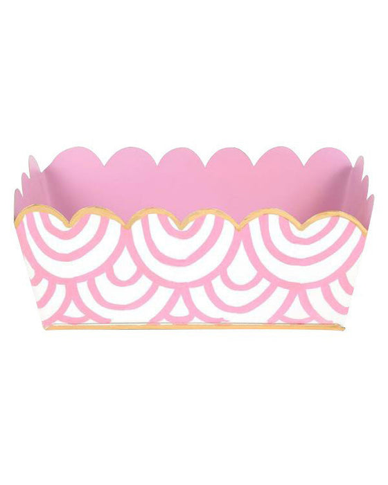 Tole Pink Scales Desk Tray - Hattan Home - 1