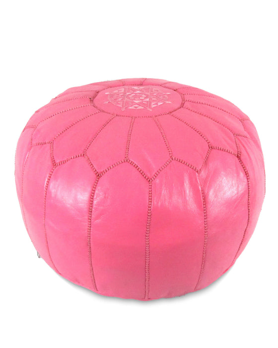 Moroccan Pouf in Bright Pink - Hattan Home - 1