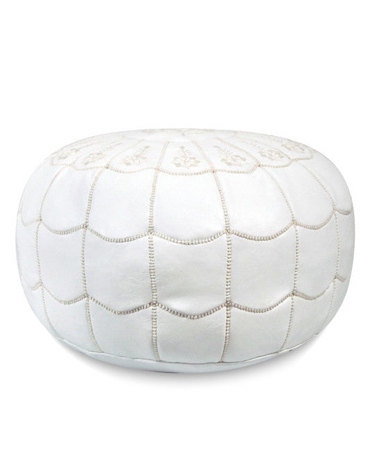 White Arches Pouf - Hattan Home - 1