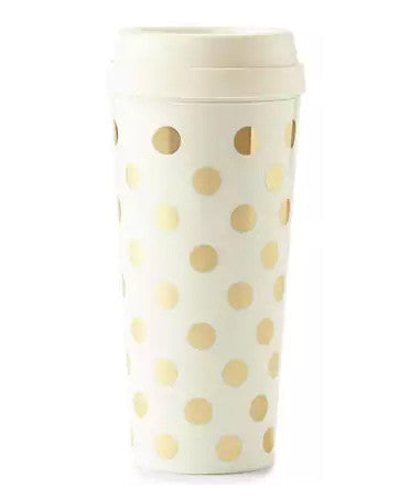 Kate Spade Gold Dots Thermal Mug - Hattan Home - 1