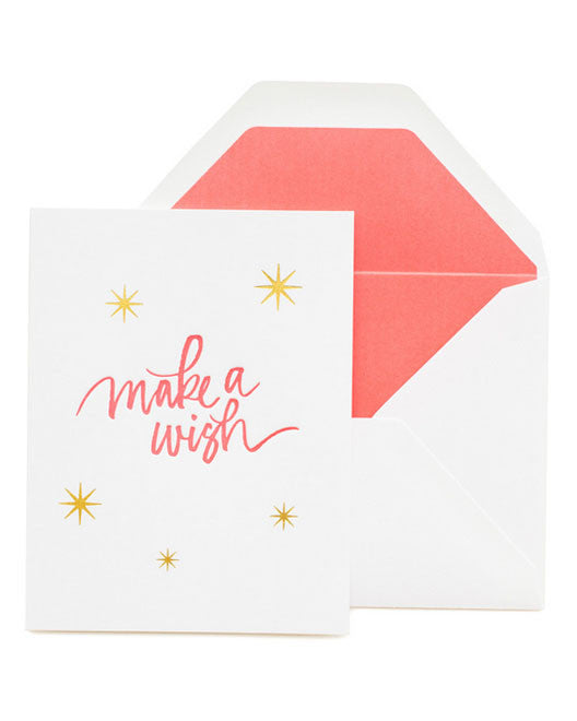 Sugar Paper LA Neon Make A Wish Card - Hattan Home - 1
