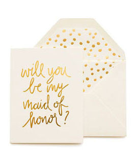 Sugar Paper Playful Maid Of Honor Card - Hattan Home - 2