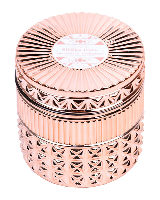 Capri Blue Rose Gold Muse Pink Grapefruit + Prosecco Candle - Hattan Home - 3
