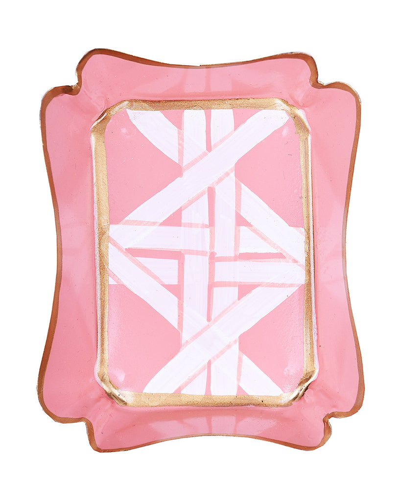 Tole Coral Cane Trinket Tray - Hattan Home - 5