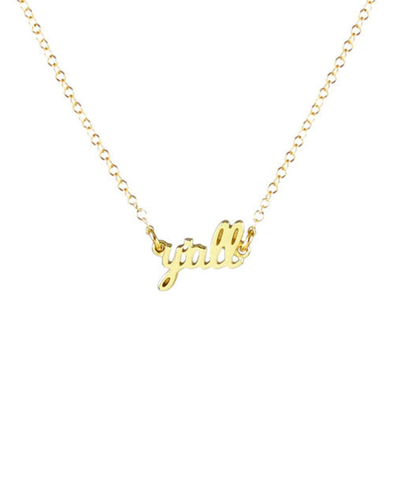 Kris Nations Y'all Script Necklace