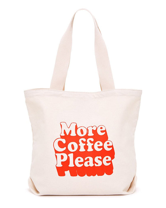 Ban.do More Coffee Please Canvas Tote