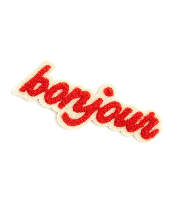 Ban.do Bonjour Chenille Iron on Patch