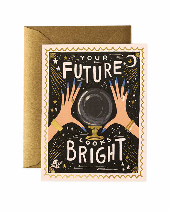 Rifle Paper Your Future Looks Bright Card