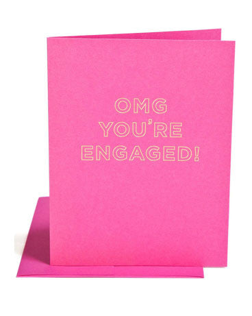 OMG You're Engaged Card - Hattan Home - 1