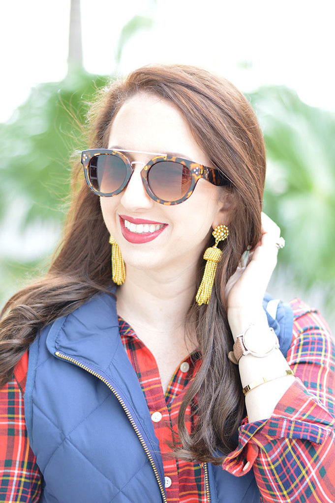 Lisi Lerch Tassel Earrings in Gold - Hattan Home - 3