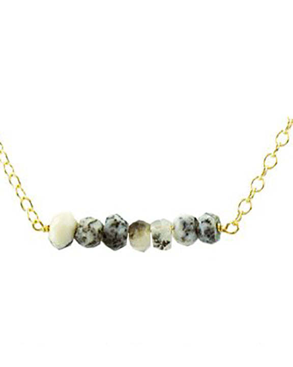 Kris Nations Mystic Bar Necklace in Dendrite Opal