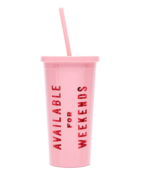 Ban.do Sip Sip Tumbler With Straw - Available for Weekends