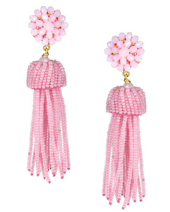 Lisi Lerch Tassel Earrings in Cotton Candy