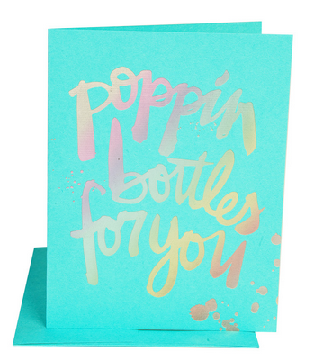 Poppin' Bottles For You Card - Hattan Home - 2