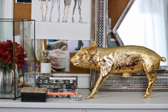 Harry Allen Piggy Bank in Gold - Hattan Home - 9