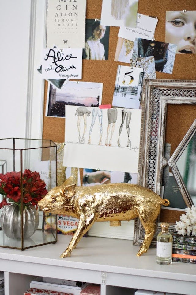 Harry Allen Piggy Bank in Gold - Hattan Home - 10