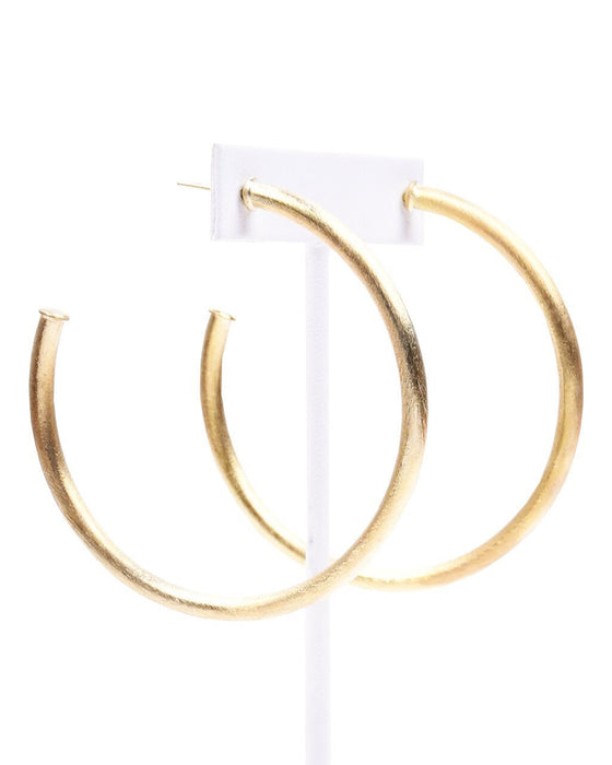 Sheila Fajl Everybody's Favorite Champagne Gold Hoops - Hattan Home - 1