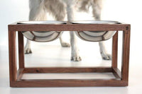 Minimalist Modern Wood Dog Feeder