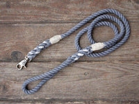 Seaside Blue Organic Cotton Rope Dog Leash