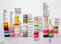 40 Wooden Spools of Japanese Washi Tape