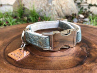 Signature Cork Dog Collar in Ocean Blue