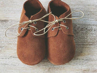 Brown Leather Baby Oxfords