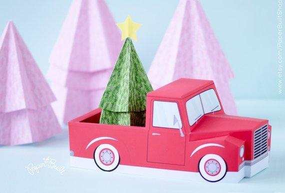 Christmas Pickup Truck Treat Box