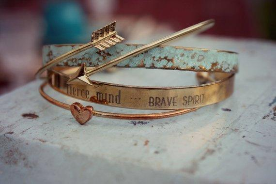 Kind Heart, Fierce Mind, Brave Spirit Bracelet