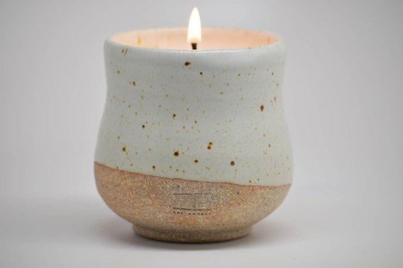 Handmade Ceramic Teacup Soy Candle