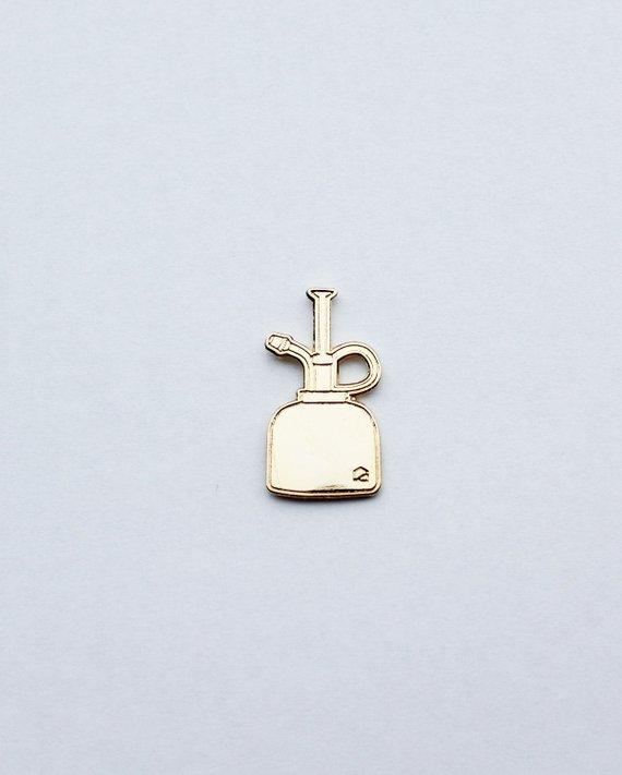 Gold Plant Mister Lapel Pin