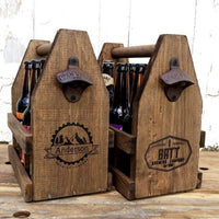 Wooden Beer Caddy Tote