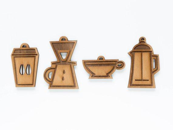 Coffee Lover Ornament Set