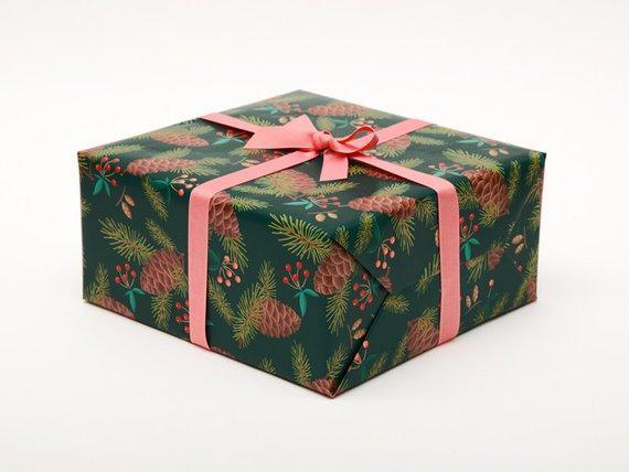 Pine Christmas Wrapping Paper