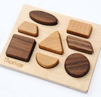 Natural Wood Shapes Toy Puzzle