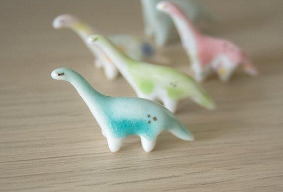Miniature Ceramic Dinosaur Figurines