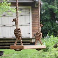 Old-Fashioned Wooden Tree Swing