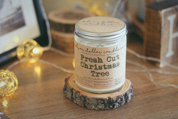 Fresh Cut Christmas Tree Candle