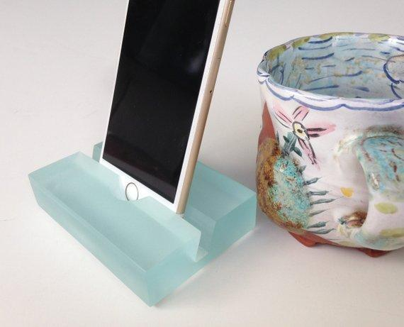 Beach Glass Resin iPhone Stand