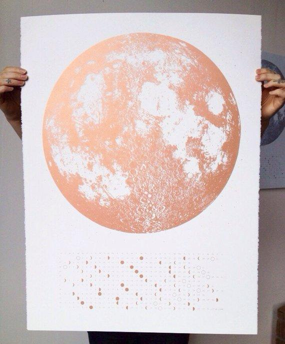 Copper Full Moon Calendar Print