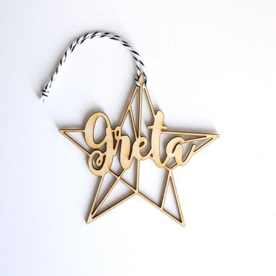 Modern Geometric Star Christmas Ornament