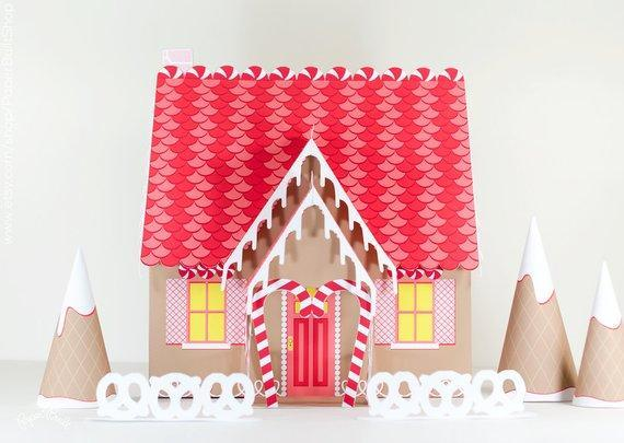 Paper Gingerbread House Kit