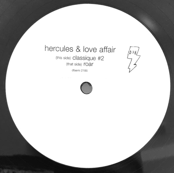 Hercules & Love Affair - Classique #2 b/w Roar (promo white label)