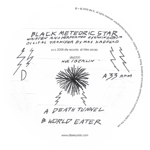 "Black Meteoric Star - Death Tunnel b/w World Eater 12"" Vinyl"