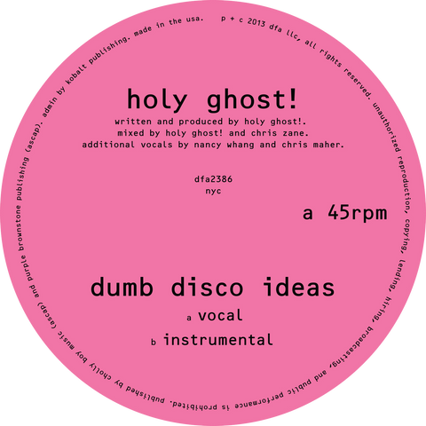 Holy Ghost! - Dumb Disco Ideas