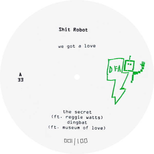 Shit Robot - We Got A Love (White Label 2LP)