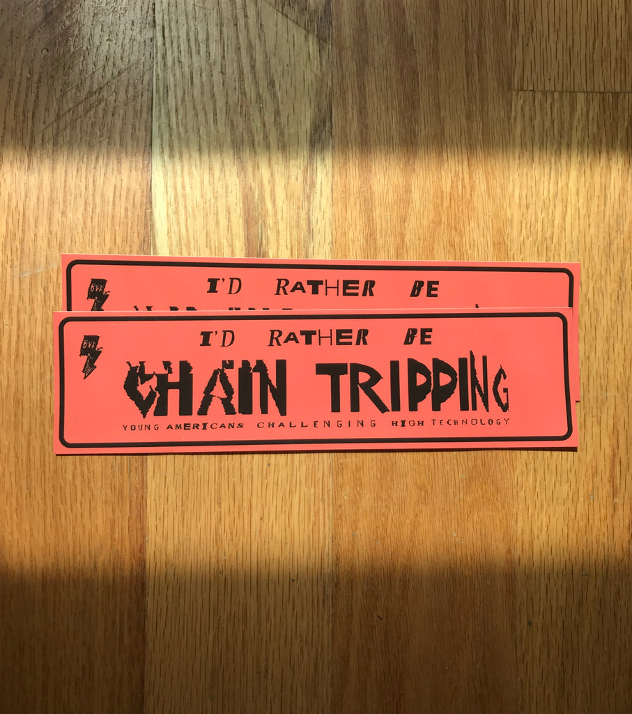 YACHT - Chain Tripping Bumper Sticker