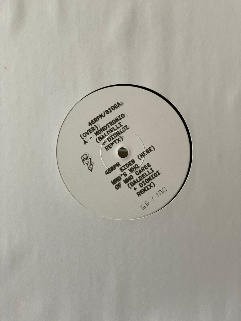 "Museum Of Love - Monotronic & Who's Who Of Who Cares w/Baldelli & Dionigi Remixes (White Label 12"")"
