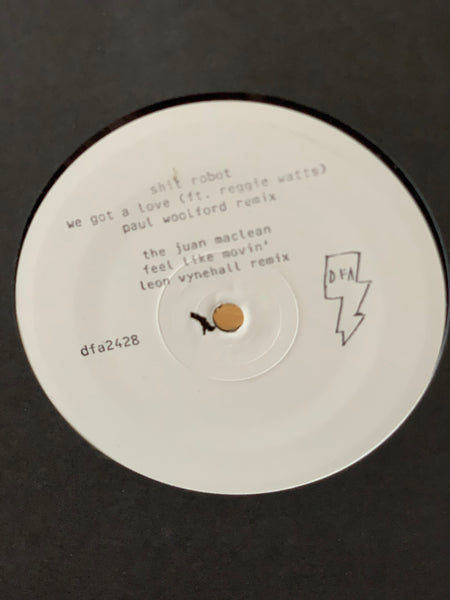 "The Juan Maclean / Shit Robot - Feel Like Movin' / We Got A Love w/ Leon Vynehall / Paul Woolford Remixes (White Label 12"")"